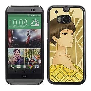 Be Good Phone Accessory // Dura Cáscara cubierta Protectora Caso Carcasa Funda de Protección para HTC One M8 // Japanese Anime Girl