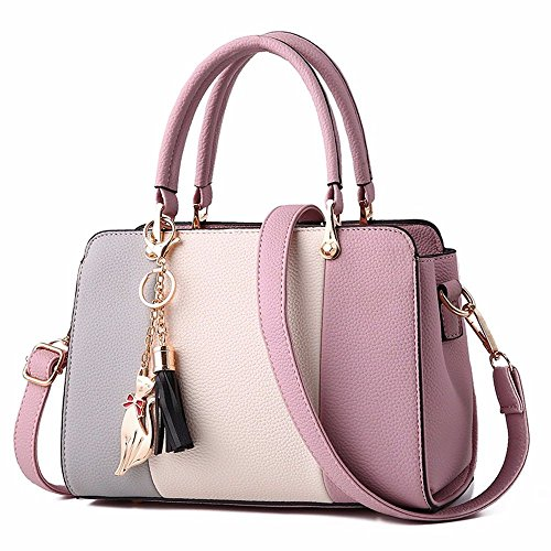 Bolso Mujer para Colour al BMKWSG Lilac Colour Hombro Lilac RwF6H