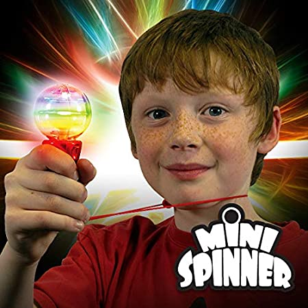 1 Pack Light Up Flashing Mini Spinner Torch with Lanyard
