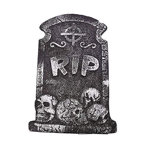 Prizemall 2Pcs Halloween Decoration Gravestone Scarf Black Tombstones Prop for Home Party Decor - Random Style ()