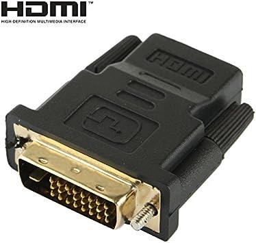 Cable HDMI, DVI-D 24 + 1 pines macho a HDMI 19 pin hembra adaptador para el monitor / televisor de alta definición: Amazon.es: Electrónica