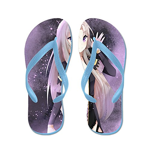 Cafepress Beautiful Anime Girl - Chanclas, Sandalias Thong Divertidas, Sandalias De Playa Caribbean Blue