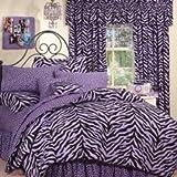 Purple Zebra Print Bed in a Bag - Twin