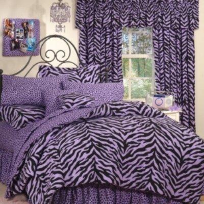 Purple Zebra Print Bed in a Bag - Twin ()