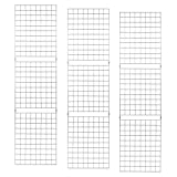 Grid Panels – Econoco Durable Grid Shelves – Portable Fixtures for Art, Retail Display, or Home Storage– 2 ft x 7 ft – Pack of 3 (White)
