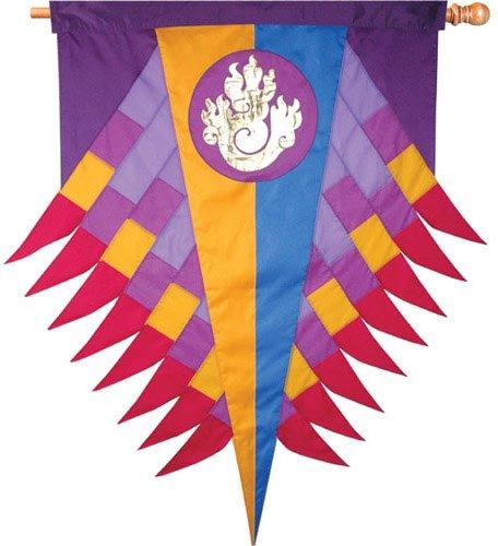 Premier Kites 53213 Progressive Hanging Banner, Flame, Purple