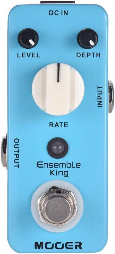 Muslady MOOER Ensemble King Pedal de efectos guitarra de coro analógico True Bypass Carcasa metálica completa