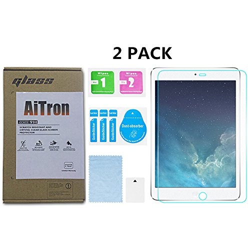 IPad Mini 4 /IPad Mini 5 Matte Tempered Glass Screen Protector [ 2 Pack ] AiTron Anti-Glare/Anti-Fingerprint No Dazzling/2.5D Rounded Edges/9H Hardness/Scratch Proof/3D Touch for Apple iPad Mini 4/5 (Best Anti Glare Screen Protector For Ipad Mini)