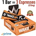 All Natural Caffeinated Energy Bar (1 Bar = 3 Espressos) by Jesse's WakeUP! Dark Chocolate Rice Crisp Bar (100 Calories) - Vegan, Kosher, Soy Free, Gluten Free, Nut Free, Non-GMO (6 Count)