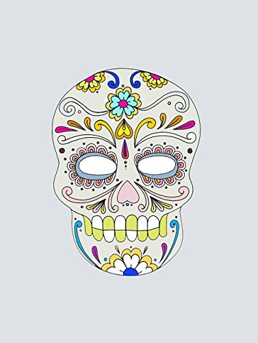 Mexican Sugar Skull Decor Day of the Dead POSTER Halloween home wall art print A3 for Home -