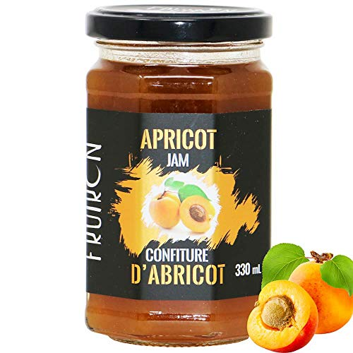 Fruiron All-Natural Apricot Jam, 330g (11 64oz) | Imported from France,  Made From Real Apricots, No Artificial Flavours or Colouring
