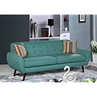 U.S. Livings Coraline Mid Century Living Room Sofa (Teal)