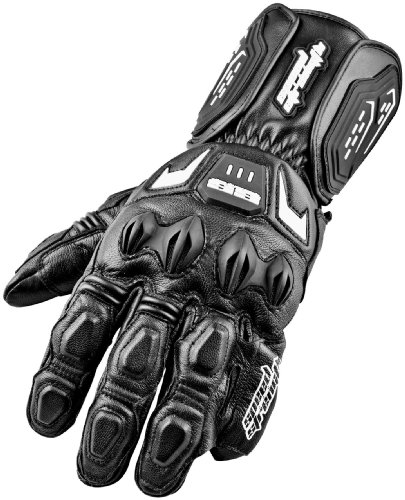 Speed and Strength Lock and Load Men's Motorcycle Leather Gloves (Black, X-Large)