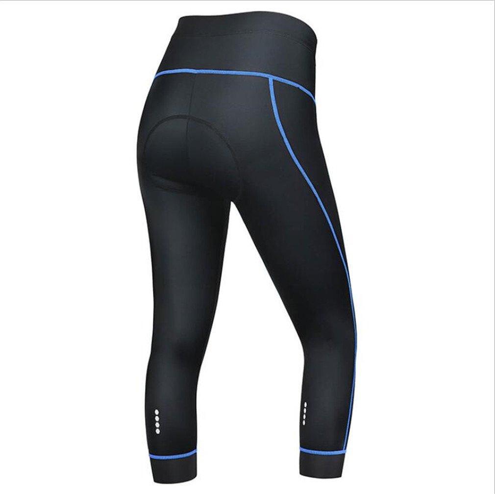 Acolchado 3D Mujer Medias De Ciclismo Yoga Transpirable Leggings De Equitaci/ón De Bicicleta Capri Biking Medias LUCKY-U 3//4 Culotte Deportivos 3//4 Leggings De Ciclismo
