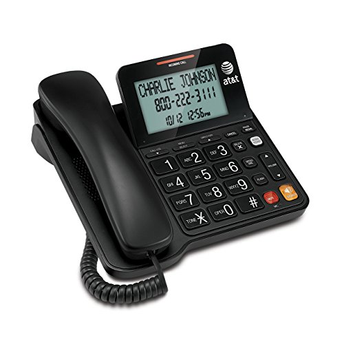 - AT&T CL2940 Corded Phone with Caller ID/Call waiting, Speakerphone, XL Tilt Display, XL Buttons & Audio Assist Volume Boost