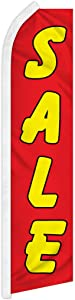 Sale Yellow Swooper Feather Flag - Great for Businesses, Dealerships, and Furniture Stores