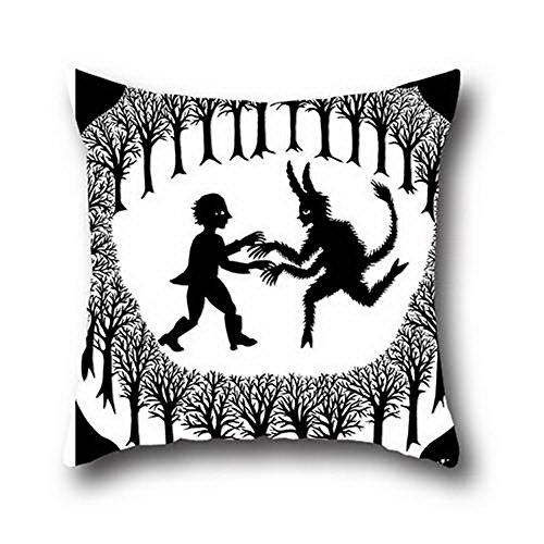 (Gui Lian Little Devil Cotton Faux Texture Hand Made Pillow Case Cushion Cover ( 20*30 ))