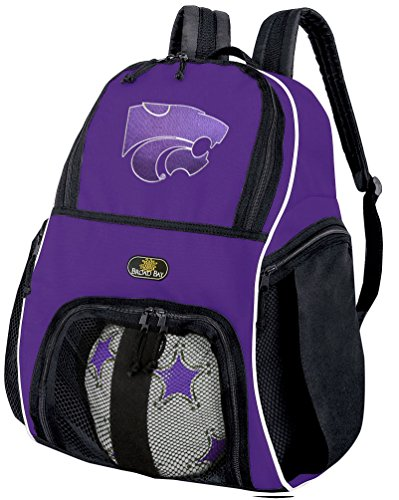 Broad Bay Kansas State Soccer Backpack or Volleyball Bag Purple by Broad Bay