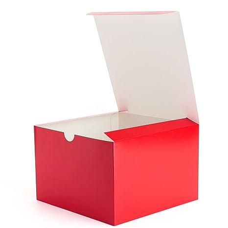 208bb868b MESHA Cajas de Regalo de Papel de Colores Cajas de Regalo con Tapa para  Regalos, Manualidades, Cajas para Cupcakes, Rojo, 6x6x4, 50: Amazon.com.mx:  Hogar y ...