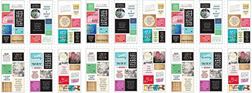 Me & My Big Ideas Pocket Pages Stickers 6 Sheets/Pkg-Love Yourself (3 pack)