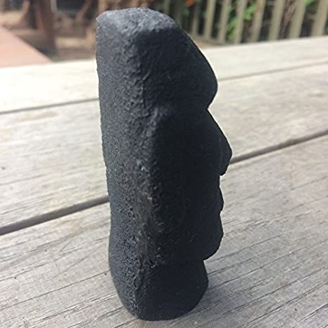 8 cm negro Mini escritorio Louvre cabeza de la isla de Pascua Estatua calcetín de: Amazon.es: Jardín