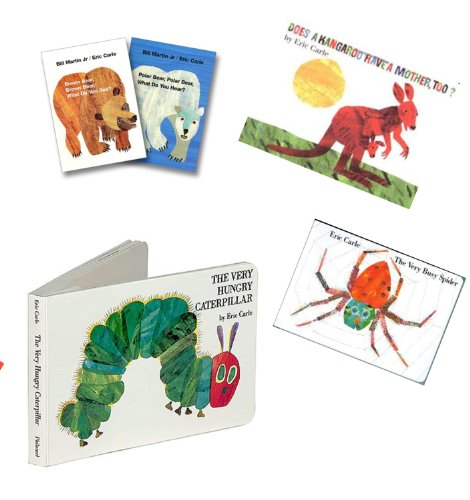Eric Carle Collection (7): The Very Hungry Caterpillar; the Very Quiet Cricket; Very Lonely Firefly; the Mixed up Chameleon; Brown Bear, What Do You See; 123 to the Zoo; What's for Lunch (Book Sets for Toddlers : My Very First Book of Words,The Mixed up Chameleon) (Eric Carle The Very Quiet Cricket)
