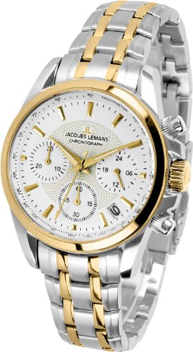 Jacques Lemans Liverpool 1-1752F 35mm Two Tone Steel Bracelet & Case Mineral Women's Watch