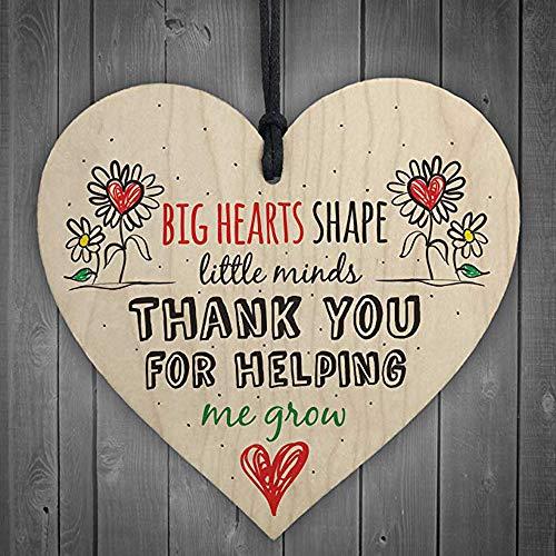 AIUSD Clearance , Teacher Leaving Gift Nursery Wooden Hanging Pendant Heart Plaque Decor