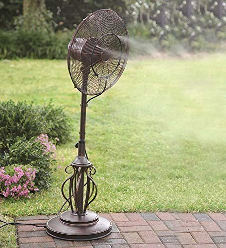 Updated Fan Misting Kit for a Cool Patio Breeze - Leak Blocker Added, Turns Heat Down by 20 Degrees, Easy On The Wallet, Portable, Connects to Any Outdoor Fan!