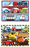 : Vehicle and Construction Chunky Puzzle Bundle by Melissa and Doug