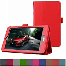 """Acer Iconia ONE 7 B1-750 Case,Mama Mouth PU Leather Folio 2-folding Stand Cover with Stylus Holder for 7"""" Acer Iconia ONE 7 B1-750 Android Tablet,Red"""