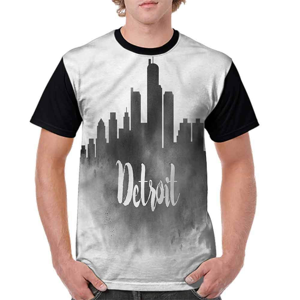 Round Neck T-Shirt,Hot Day Monument Valley Fashion Personality Customization