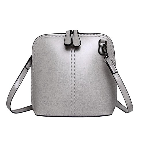 Wiedwing Pure - Synthetic Leather Shoulder Bag For Women, Casual Style, Black Gray