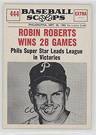 Amazoncom Robin Roberts Baseball Card 1961 Nu Cards
