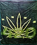 Queen Size Double Sided Reversible Soft Mink Blanket 420 Weed