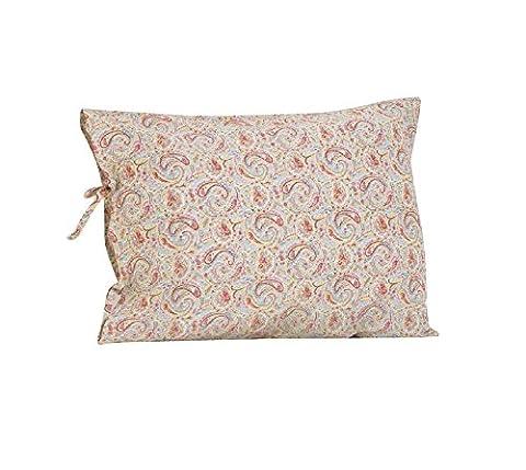 Cotton Tale Designs Plain Pillow Case with Ties, Tea Party (Cotton Tale Tea Party Bedding)