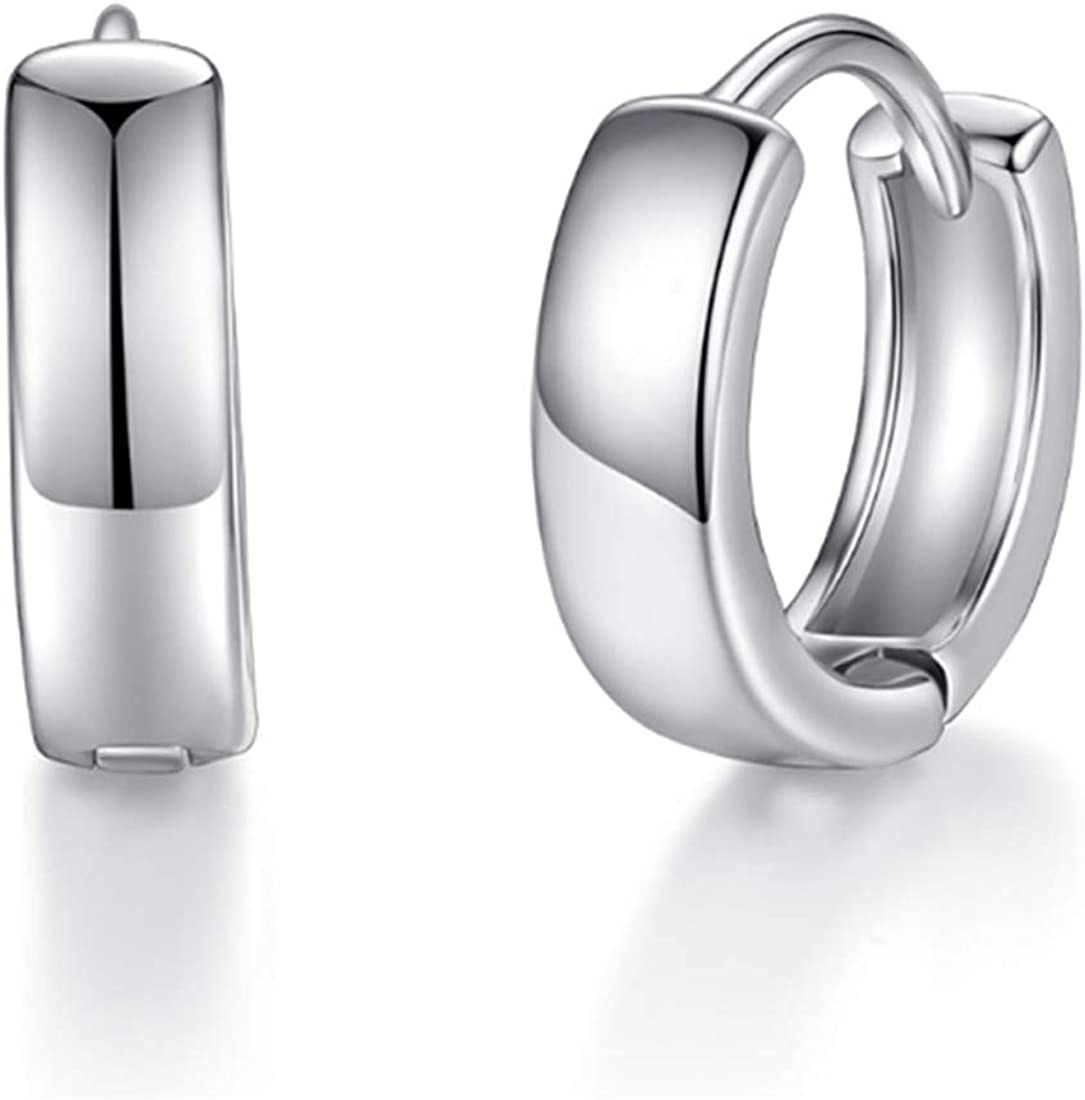 ZUYGG Small Hoop Earrings for Women 18K Gold/White Gold Plated 8mm