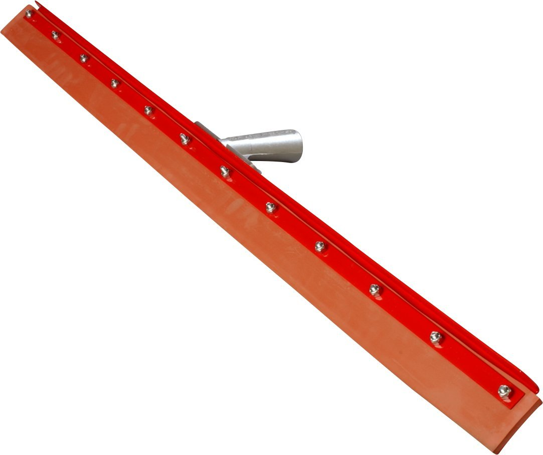 Carlisle 4007700 Flo-Pac Gum Rubber Straight Floor Squeegee with Heavy Duty Steel Frame, 36'' Width, Red (Case of 6)