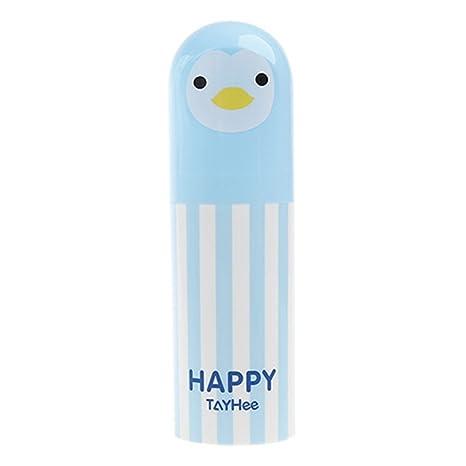 BESTOMZ Caja de soporte de caja de almacenamiento de pasta de dientes portátil cepillo de dientes