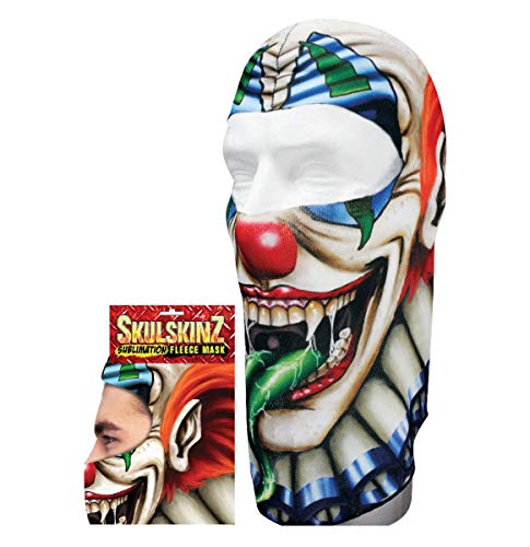 Skullskinz Fleece Face Mask Balaclava Creepy Scary Clown Helmet Liner Costume -