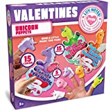 JOYIN 15 Pack Kids Valentines Day Cards with Unicorn Finger Puppet Set for Kids Valentines Classroom Exchange Prizes Valentine's Party Favor Toys