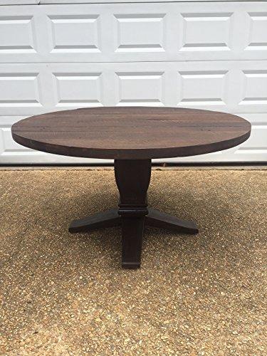 Round Farm Table - Reclaimed Wood - Wood base