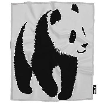 Amazon.com: Mugod - Manta de panda, color blanco y negro ...