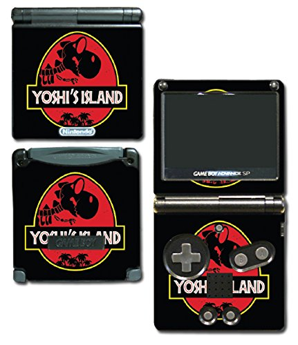 Yoshi's Island Jurassic T-Rex Video Game Vinyl Decal Skin Sticker Cover for Nintendo GBA SP Gameboy Advance System