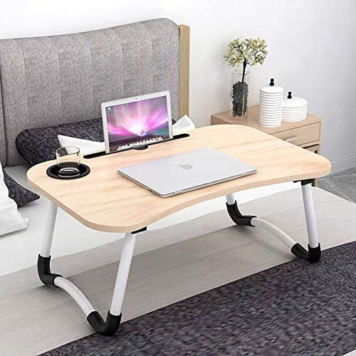 KBS Foldable Portable Adjustable Multifunction Laptop Study Lapdesk Table for Breakfast Serving Bed Tray Office Work Study Table