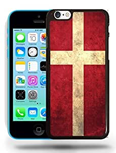 Denmark National Vintage Flag Phone Case Cover Designs for iPhone 5C
