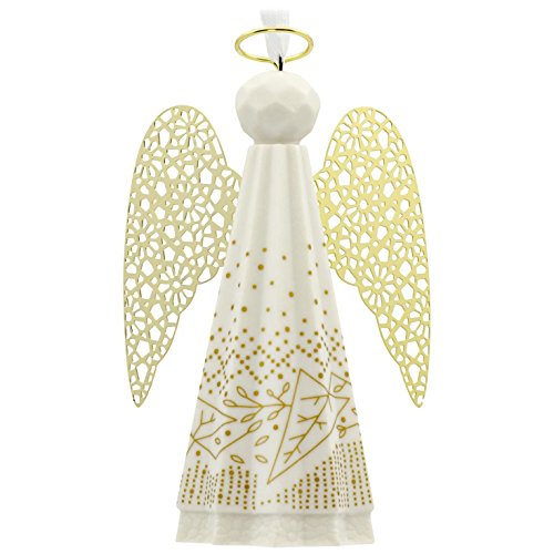 Hallmark Signature Premium Angel Porcelain and Metal Christmas Ornament (Collectors Ornaments Christmas)