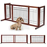 Adjustable Wooden Dog/Pet Gate Solid Wood Free Standing...