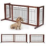Adjustable Wooden Dog/Pet Gate Solid Wood Free Standing...
