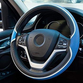 Black Bell Automotive 22-1-52680-1A Universal Bandera Steering Wheel Cover